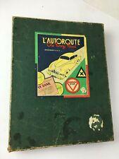 """jeu de société """" l'autoroute - the funny road """" 1956  + micro NOREV"""