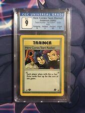 2000 Pokemon Here Comes Team Rocket 15/82! Holo 1st Edition CGC 9 Mint PSA BGS 9