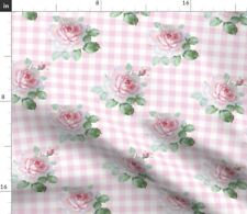 Flowers Plaid Floral Gingham Spring Garden Spoonflower Fabric by the Yard