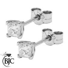 Stud Not Enhanced SI1 Excellent Cut Fine Diamond Earrings