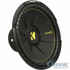 "(2) KICKER CompC CWCS154 2400W 15"" Single 4-Ohm Car Subwoofers"