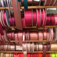Berisfords Double Satin Ribbon 35 Shades 7 Widths - Free Postage - Cut To Order