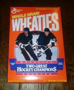 1992 Empty Wheaties Box - Two Great Hockey Championships - Lemieux & Jagr