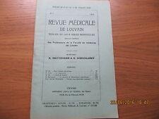 Revue Médicale de Louvain N°7 1933 Le bégaiement