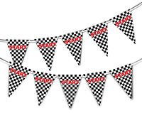 Start Line Racing Checkered Pattern Bunting Banner 15 flags by PARTY DECOR