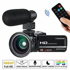 Digital Video Camera Camcorder Vlogging 1080P HD 24MP 16x Zoom IR Night Vision