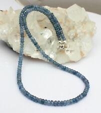 ZAFIRO CADENA de piedras preciosas Facetas Azul Collar aprox. 100KT 47cm