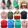 Men Women Vintage Nylon Backpack Rucksack School Satchel Travel Hiking Book Bag