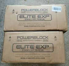 Powerblock Elite Exp Dumbbell 2020 Stage 2 and Stage 3 Bundle 50-90LBS IN HAND