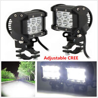 Universal Adjustable 2pcs 18W CREE LED Motorcycle Fog Driving light Lamp Spot