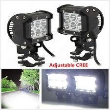 Universal Adjustable 2pcs 18W CREE LED Motorcycle Fog Driving light Lamp Spot
