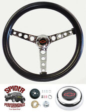 "1970-1973 Chevy Pickup Blazer steering wheel RED BOWTIE 14 1/2"" CLASSIC CHROME"
