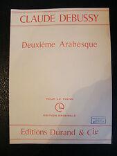 Partition Claude Debussy Deuxième Arabesque pour Piano