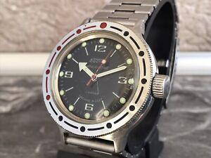 WOSTOK 2409A Amphibia 20ATM Vintage Wristwatch Vostok Antimagnetic USSR Serviced