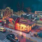Club discothèque avec éclairage -HO-1/87-VOLLMER 43656