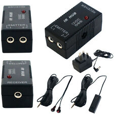 IR Infrared Hub Repeater Remote Control System- 1 Receiver & Emitter-AV Extender