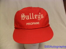 RARE VINTAGE VTG 1980s SALLEY'S PROPANE GAS ADVERTISING BATES CITY MISSOURI HAT