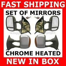 MIRROR FORD TRUCK CHROME SIGNAL POWER TOWING SET PAIR
