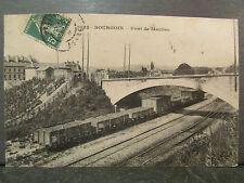 cpa 38 bourgoin pont de maubec train