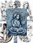 RELIGIOUS SKETCHBOOK 2 by Steve Soto 30 pages Tattoo Design Sketch Flash Book