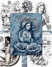 RELIGIOUS SKETCHBOOK 2 by Steve Soto (30 pages) Tattoo Design Sketch Flash Book