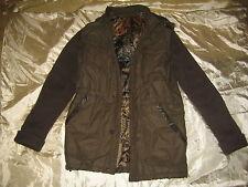 giaccone coat c/cappuccio hood CLASS CAVALLI tg.48 inserti pelle leather inserts