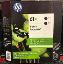 HP 61XL High Yield Original Ink Cartridge, Black two pack exp 10/2020 61 XL
