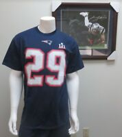 LeGarrett Blount #29 New England Patriots Super Bowl LI Logo Mens Football Shirt
