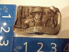 Vintage Belt Buckle American Oil Worker Commemorative Limited Edition 1983