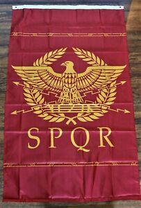 SPQR Banner Flag Western Roman Empire Senate People of Rome 5' x 3' Historical