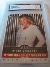 CYNDY VIOLETTE 2006 RAZOR POKER # 74 GRADED 9