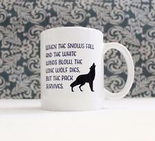 Lone Wolf Dies but Pack Survives Game of Thrones inspired Coffee Mug Cup tv show