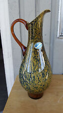 """Glass Vase Water Pitcher Decanter  Made in Italy Mid Century 15"""" VMAX CREATION"""