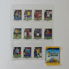 PANINI WC 2014 Brasil set 11 extra VISA stickers Ecuador V1-V11 +1 sealed packet