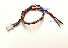 JST XH 2.5mm Pitch Battery 2-Pin Female Connector twisted wire 24AWG 200mm x 10
