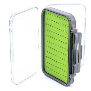 Double Side Waterproof Pocket Fly Fishing Box Slid Foam Insert Hold 170 Flies JA