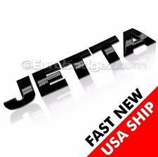 1 BRAND NEW Volkswagen VW JETTA Rear Black Letter Badge Emblem SATIN BLACK JETTA