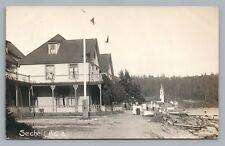 Sechelt BC British Columbia RPPC Waterfront RARE Antique—Sunshine Coast Photo