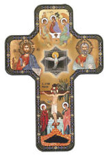 HOLY TRINITY FATHER SON HOLY SPIRIT WOODEN CROSS STATUES CANDLES PICTURES LISTED