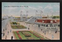 Flower Beds at Electric Park Pool Parlor Kansas City Missouri MO postcard