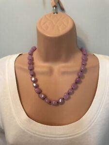 Lola Rose Pale Lilac Semi Precious Stones Necklace & Pouch.  NEW