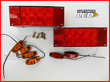 Submersible Trailer Rectangle LED Lights, Stop Turn Tail, Marker light Optronics