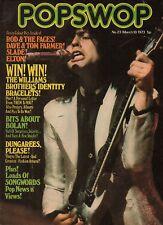 Marc Bolan on Magazine Cover 1973  Slade  Dave & Tom Farmer The Faces Elton John