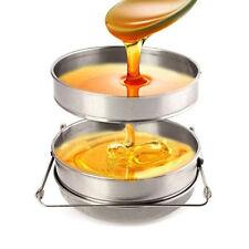 Big Honey Strainer Double Sieve Stainless Steel Beekeeping Equipment Filter New