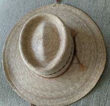 """Straw Hat from Mexico, Size 7, 3½"""" Brim, 3¾"""" Crown, New, 20+ Years Old"""