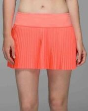 NWT $68 Lululemon Pleat to Street Skirt II Sz 8 Grapefruit Tennis.Sold out item