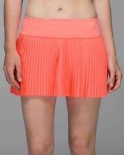 NWT $68 Lululemon Pleat to Street Skirt II Sz 6 Grapefruit Tennis.Sold out item