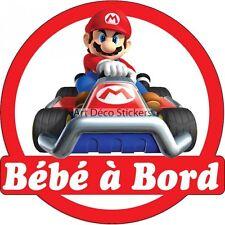 Stickers Bébé à bord Mario 16x16cm réf 15141 15141