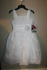 NEW  GIRLS SIZE 7 PAGEANT FLOWER GIRL FORMAL FANCY WHITE ROSENAU RETAIL $80
