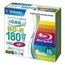Verbatim BD-R 25Gb 6x Printable Blu-ray Disc 10 Pack Blank Disc Inkjet japan